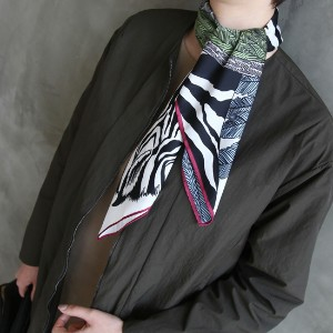 [zoozoom] Feather zebra print scarf 4color / f607