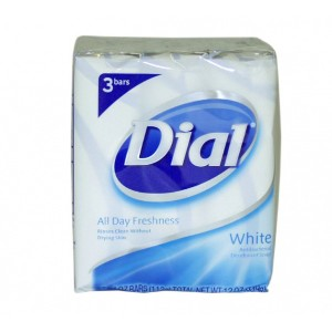 Dial Antibacterial Deodorant Bar Soap 4 oz bars White 3 ea