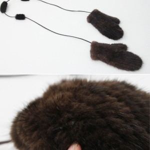 [zoozoom] leather cutie mink gloves 2color / h218