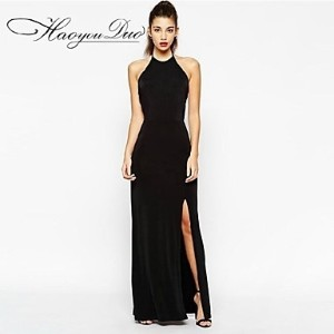 Haoyouduo Women&#039 s Sexy Backless Evening Party Maxi Dress