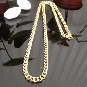 ★BIG! 大きい!割引★のTODAY JUST1デイ★/ 5mm width 60cm length finest 18k gold chain necklace 18KGOLD ~ dipped...
