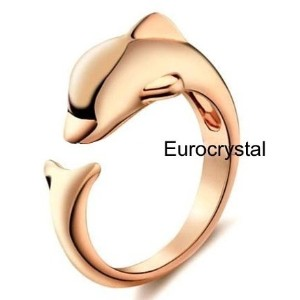 best:Big Sale Chance!!! 18k Gold plated// Dolphin free size ring /18K Gold Plated/ adjustable size