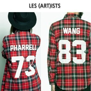[男女兼用]les(art)ists style back number wang83 pharrell73 シャツ free size celebrity fashion 人気の芸能人着用...