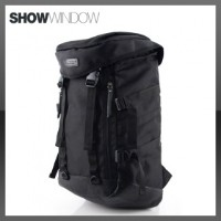 [SHOWWINDOW] Mens Backpack Duffle Laptop Bag Travel Rucksack BLACKNylon-subi/SH2013
