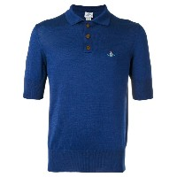 Vivienne Westwood Man - embroidered logo polo shirt - men - コットン - M