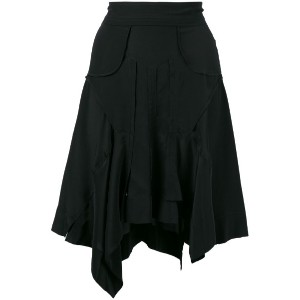 Isabel Marant - draped asymmetric skirt - women - シルク - 36