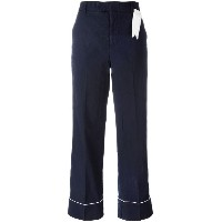 The Gigi - contrast trim trousers - women - コットン - 38