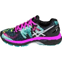 (取寄)アシックス レディース Gel-Kayano23 ランニングシューズ Asics Women Gel-Kayano 23 Running Shoe Black/Silver/Pink Glow