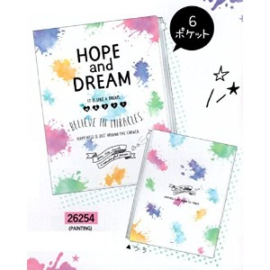 HOPE&DREAM / ファスナー付 6ポケット A4 クリアファイル (26254_PAINTING)