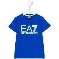 Ea7 Kids - logo print T-shirt - kids - コットン - 6歳