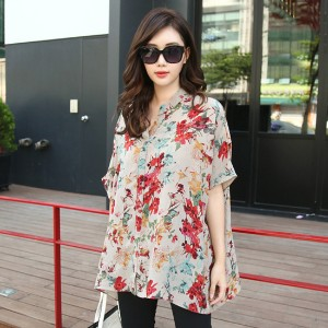 [zoozoom] Flower print rayon blouse 1color / 23747