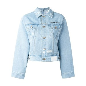 Steve J & Yoni P - cropped denim jacket - women - コットン - XS