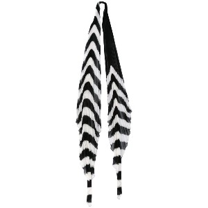 Haider Ackermann - Orio stripe pleated scarf - women - ポリエステル/ビスコース - ワンサイズ