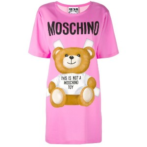 Moschino - プリント Tシャツワンピース - women - レーヨン/other fibers - 44