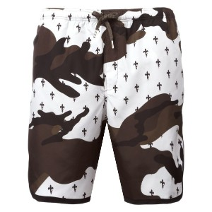 Neil Barrett - Fleur de Thunder swim shorts - men - ポリエステル - S