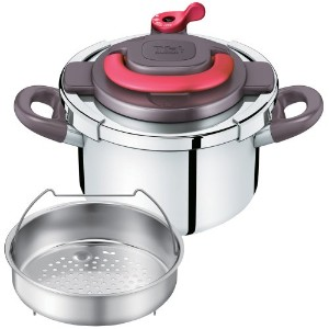 T-fal ティファール ワンタッチ開閉圧力なべ クリプソ アーチ パプリカレッド 4L P4360432