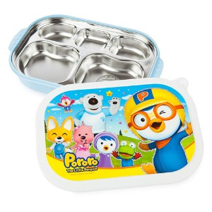 ★Pororo Food Tray Lunchbox separation★ food strage /korea character / Stainless Steel / picnic /