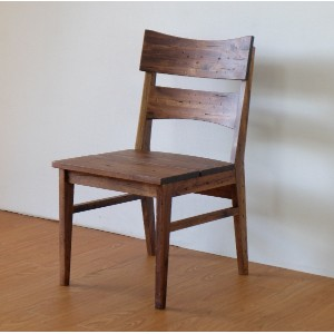 ISSEIKI DINING CHAIR ダイニングチェア ブラウン色 幅48 ダメージ加工 木製家具 【ZE-78-2】
