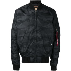 Alpha Industries - camouflage bomber jacket - men - ナイロン - XL