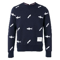 Thom Browne - fish print sweatshirt - men - コットン/キュプロ - 0