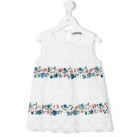 Ermanno Scervino Junior - floral emboidered crochet top - kids - コットン/ポリエステル - 6歳