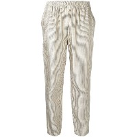 Forte Forte - striped trousers - women - コットン/リネン/ビスコース - 4
