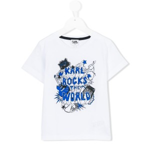 Karl Lagerfeld Kids - Karl Rocks The World Tシャツ - kids - コットン - 8歳