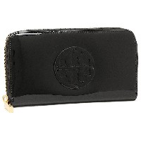 トリーバーチ 財布 アウトレット TORY BURCH 50005071 009 STACKED PATENT ZIP CONTINENTAL 長財布 BLACK