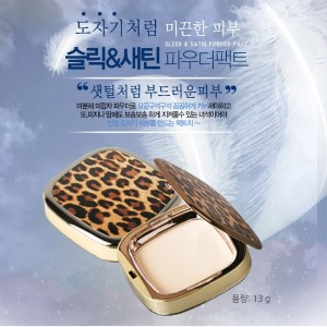 ★Hope Girl★Sleek Satin Powder Pact 13g◆No.21/No.23◆Silky◆Lasting◆Fresh◆Natural and Clear Makeup