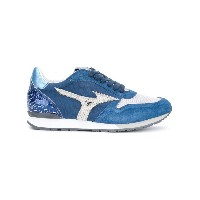 Mizuno - printed panelled sneakers - women - レザー/rubber - 36.5