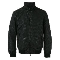 Armani Jeans - dotted bomber jacket - men - ポリアミド/ポリエステル - 56