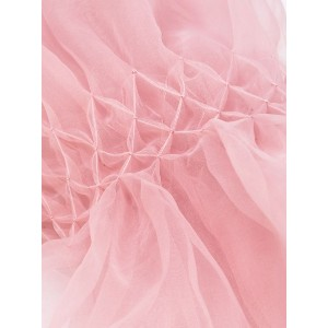 Ermanno Scervino - smocked detail scarf - women - ポリエステル - ワンサイズ