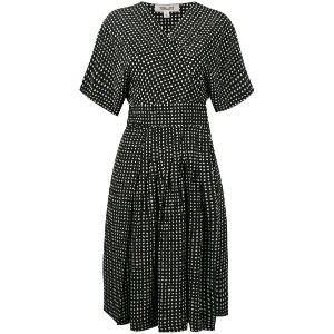 Diane Von Furstenberg - polka dots wrap dress - women - シルク - 4