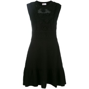 Red Valentino - sleeveless knitted dress - women - コットン/ポリアミド - M