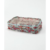 <THE SOUVENIR SHOP_ANNA SUI> タイル花柄 パッキングポーチLサイズ(80320029) グリーン バッグ~~セカンドバッグ・ポーチ