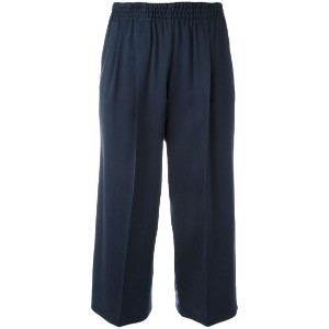 Dusan - cropped trousers - women - シルク - S