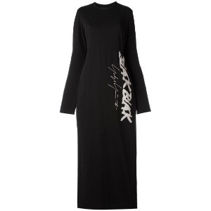 Yohji Yamamoto - slit laterals knitted dress - women - コットン - 2