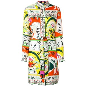 Emilio Pucci - printed shirt dress - women - シルク - 40