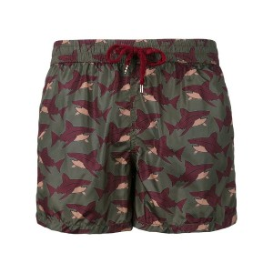 Nos Beachwear - sharks print swim shorts - men - ポリアミド - XXL