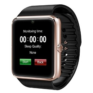 Luxsure Bluetooth Smart Watch with SIM Card Slot and NFC Cell Phone Watch Phone Mate for Samsung S3...
