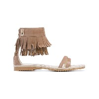 Cesare Paciotti Kids - teen fringe sandals - kids - ゴートスキン/レザー/ゴートスエード/rubber - 37