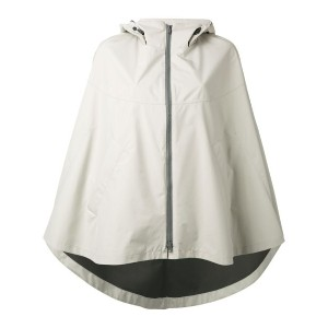 Herno - hooded cape jacket - women - ポリエステル/Fluorofibra - 42