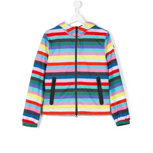 Ai Riders On The Storm Kids - teen striped jacket - kids - ポリエステル - 16 yrs