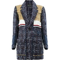 Undercover - checked loose knit jacked - women - シルク/コットン/アクリル/ナイロンウール - 1