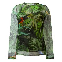 Max Mara - tropical print longsleeve top - women - ポリアミド/スパンデックス - 44