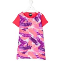 Ea7 Emporio Armani - palm tree print T-shirt - kids - コットン - 12歳