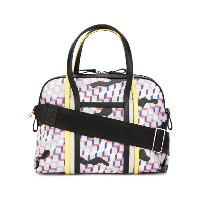 Pierre Hardy - Rally Camouflage Cube tote - women - カーフレザー/Canvas - ワンサイズ