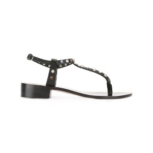 Isabel Marant - embellished thong sandals - women - レザー - 37