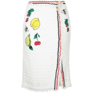 Muveil - embroidered skirt - women - コットン/ナイロン/ポリエステル - 38