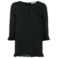 Etro - frayed blouse - women - シルク/コットン - 40